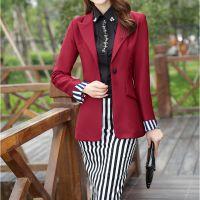供应韩版小西装2014秋装新款OL收腰修身 小西服 女式外套
