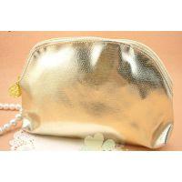 厂家供应化妆包 手拿PU化妆包 时尚金色化妆包 小巧型化妆包