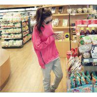 特价批发孕妇装秋冬装新款时尚韩版纯色棉加绒加厚孕妇卫衣上衣