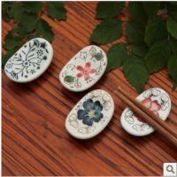 WOLIWOWA 景德镇陶瓷筷子架筷托筷子托筷枕 釉下彩工艺 餐厅餐具