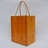 巨匠厂家定制天然日韩式环保原竹碳化竹盒工艺礼品包装提盒