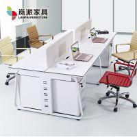 岚派家具简约现代电脑办公职员工作屏风隔断卡座位4四人桌椅组合