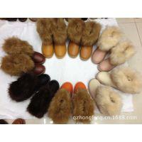 高仿狐狸毛 PU皮防水雪地靴 女士保暖靴 低筒靴 雪地靴批发