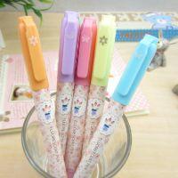 韩国款正品晨光荧光笔24302拼拼屋细字荧光笔划线笔 重点标记笔
