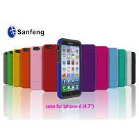 【新品上市】iPhone6硅胶+pc二合一插卡手机保护套 插卡支架外壳