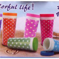 创意照片杯 防漏塑料水杯 便携随手杯 时尚旅行杯创意情侣杯子