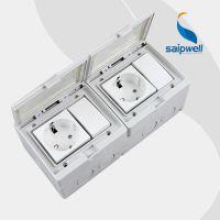 供应SPL-2SRS 两位单控开关加两位德式插座 塑料防水控制开关