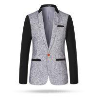 2014秋季新品男士西服 韩版修身羊毛商务休闲小西装外套 潮流9907