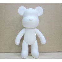 7寸 暴力熊猫积木熊DIY素体涂鸦 公仔手办摆件模型 超么么熊 彩绘批发(摔不坏)