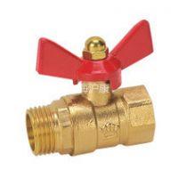 1/2DN15 铜内外丝球阀 黄铜蝶型球阀 阀门 热水器用