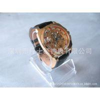 供应深圳丹士顿表厂加工定制不锈钢机械手表、镂空机械表、手表批发