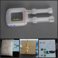 PP乳白色塑料打包扣——PP透明塑胶打包扣使用方法
