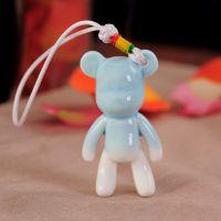 景德镇创意小礼品 陶瓷挂件 韩版  情侣萌物 暴力熊 玩偶包挂