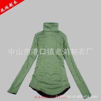 厂家直供高领打底衫 女式韩版打底衫 莫代尔打底衫 棉 定做批发