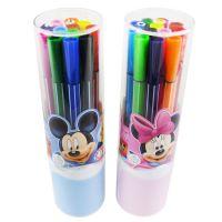 新款 正品授权迪士尼 筒装米奇水彩笔 12色可洗水彩笔 Z6158-1