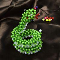 新款亚克力手工编织绿色蛇 创意家居编织工艺品摆件 厂家直销