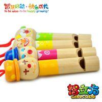 智立方小丑口哨儿童立体音乐早教益智木制玩具批发厂家直销