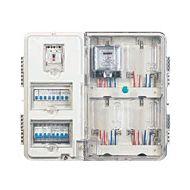 供应单相4户集装透明电表箱体 智能带主控箱防窃电表箱SP-L-J401V