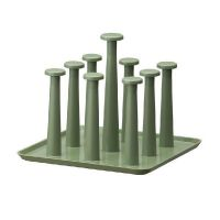 厂家批发 创意 时代良品简约家用方形沥水杯架(三色)