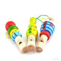 木制卡通动物口哨 发声音乐玩具 手机背包挂饰木质儿童益智小玩具