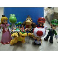 全套7款超级玛丽奥 塑胶公仔玩偶 装饰摆件