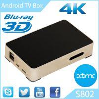 4K四核网络机顶盒Amlogic S802电视机顶盒超清安卓智能播放器外贸