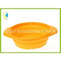 出口德国折叠碗 圆形伸缩折叠蒸碗  硅胶 超薄硅胶折叠蒸碗