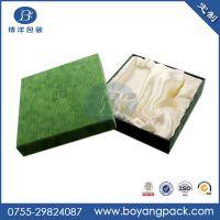专业定做高档方形饰品盒 天地盖外包绒布纸盒 材质可选
