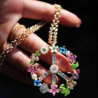 欧美风外贸复古花串项链 韩版饰品批发1005199