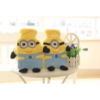 新款毛绒玩具小黄人热水袋公仔抱枕暖手捂创意礼品送女友节日礼物