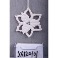 供应德化陶瓷工艺品 家居陶瓷礼品 家居陶瓷摆 雪花陶瓷创意挂件
