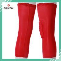 供应2014新款红色护膝 厂家直销 世界杯足球护膝 运动护具 厂家定制