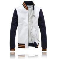供应秋季新款男装 韩版棒球服大身皮衣刺绣薄外套棒球衣男潮