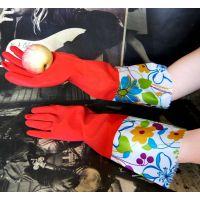 ST002韩式高档连袖缩口防水防滑手套保暖手套花袖绒里手套