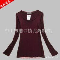 厂家直供时尚打底衫长袖 外贸打底衫长袖 休闲打底衫长袖 定做