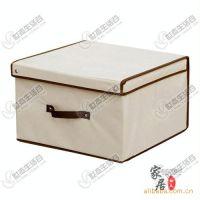 【厂家直批】优质无纺布 米色可折叠 大号 收纳箱/储物箱