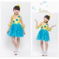 六一节儿童演出服装女童 幼儿节日舞蹈服纱裙表演服 现代舞集体舞