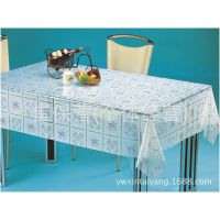 厂家直销 PVC透明水晶印花桌布