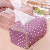 韩版创意波点布艺纸巾抽盒 厂价批发