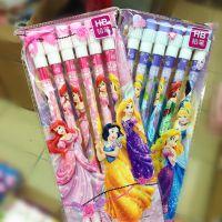 新款 学生用品文具批发 联众迪士尼公主6支装铅笔卡通彩色木工笔