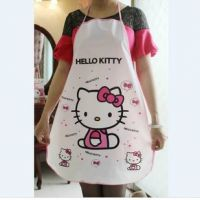 Hello kitty 防水卡通围裙 可水洗围裙