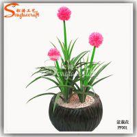 仿真盆栽 红色大球兰 室内假植物装饰小摆件