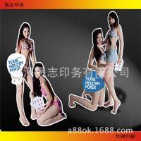 加粗人像立牌 模特支架 异形展板支架 KT板支架 广告牌画面制作