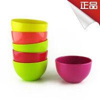 韩国进口密胺塑料彩色碗 实用儿童汤碗无毒无害 韩国厨房用品批发