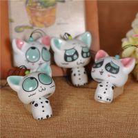 景德镇手工艺品 陶瓷风铃 两节款风铃 可爱多款小猫风铃挂件