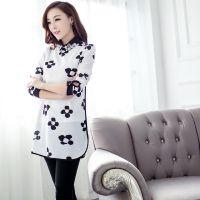 实拍2014秋冬新款韩版大码显瘦蕾丝上衣雪纺衫打底衫女长袖