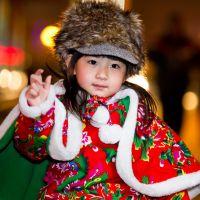 童装斗篷/披风/披肩 婴儿童年秋冬保暖加厚毛绒(凤凰牡丹红色)