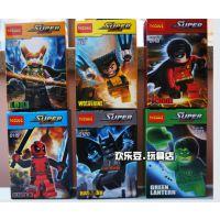 现货得高超级英雄人仔复仇者联盟洛基金刚狼蝙蝠侠超人0116-0121