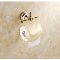 梦尔飞卫浴 欧式全铜镀金纸巾架 高档奢华厕所手纸架 洗手间卷纸厕纸架 厂家长期供应