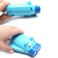 厂家批发光面猪猪电筒 LED手电筒 广告促销品 礼品手压电筒
